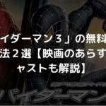 「スパイダーマン3」の無料動画の視聴方法2選【映画のあらすじやキャストも解説】