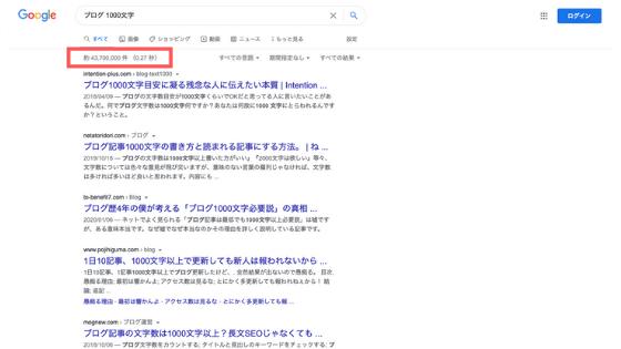 [ブログ 1000文字]:検索結果