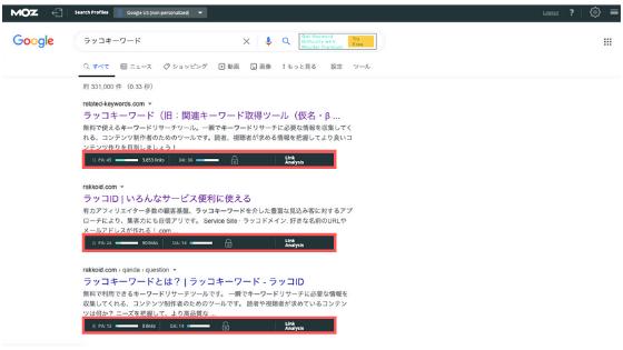 ラッコキーワード:検索結果