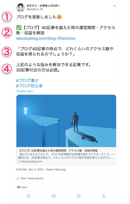 ツイートの具体例